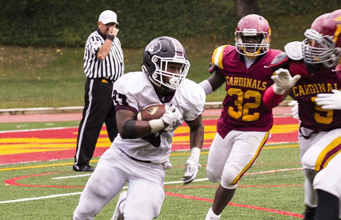 Episcopal running back Eli Blair-May rushed for 211 yards and two touchdowns against Bishop Ireton on Sept. 26.