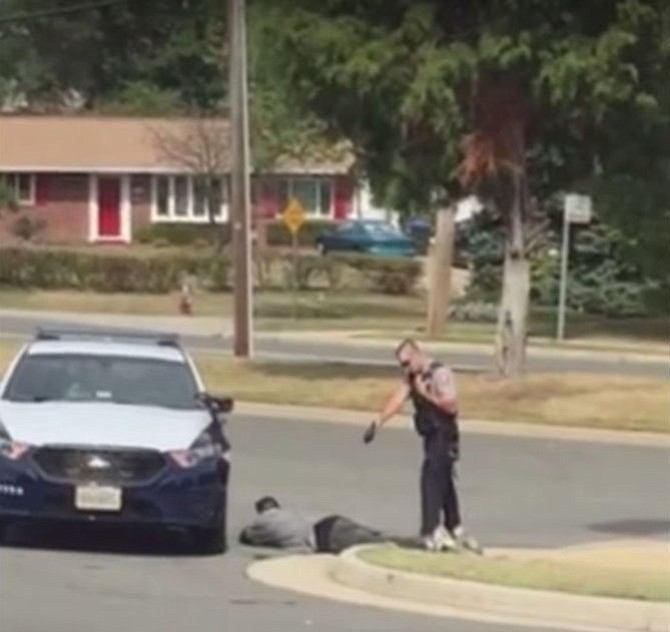 One of two cell phone videos of the incident shows a Fairfax County police officer use a taser on Cansler and then handcuff him, with help from another officer.