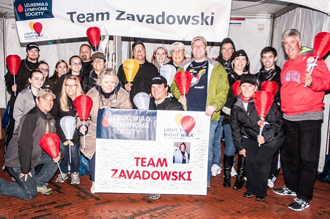 Centreville-based Team Zavadowski at the Light the Night Walk in Reston on Oct. 3.