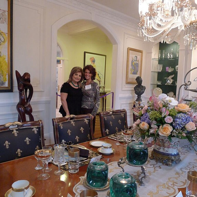 Hye Land House owner Annie Totah (left), pictured with House Selection Chair Susan Dolan, opened her home to the public for the Potomac Country House Tour.