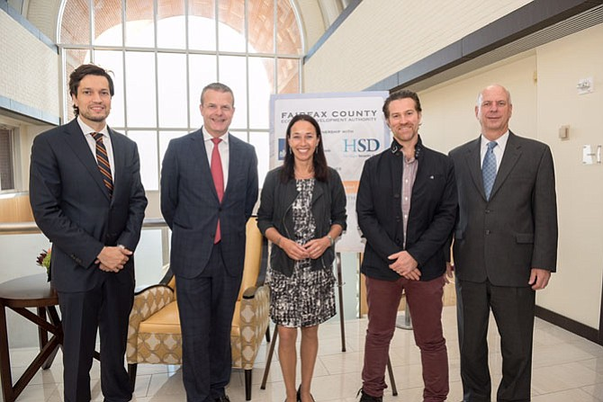 Martijn Nuijten, science and technology officer, Dutch embassy; Guido Landheer, deputy vice minister for foreign trade, the Netherlands; Ida Haisma, executive director, The Hague Security Delta; Ulrich Seldeslachts, CEO, LSEC; Gerald GORDON, president and CEO, FAIRFAX County EDA.