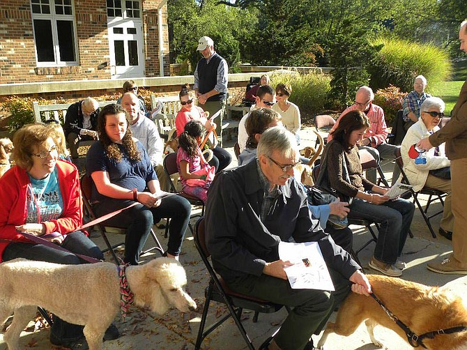 Owners brought their pets to the Church of the Holy Comforter in Vienna, on Saturday, Oct. 10 to be blessed. The blessing of the animals was moved from Oct. 4 because of Hurricane Joaquin.