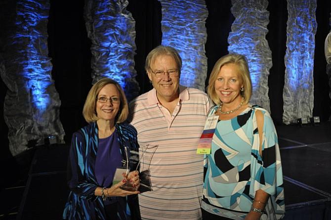 From left -- L to R: Irene Ward, LearningRx Reston, center director; Dr. Ken Gibson, founder of LearningRx program; Maureen Loftus, executive director LearningRx Reston.
