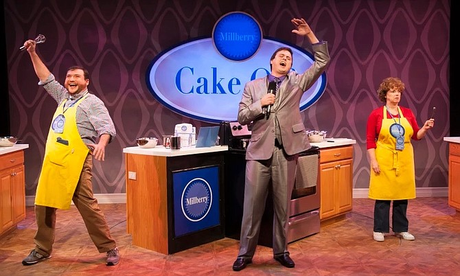 "Todd Buonopane and Sherri L. Edelen star in Signature Theater's production of ""Cake Off"" now through Nov. 22."