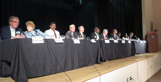 Alexandria's City Council candidates at the Nannie J. Lee Recreation Center.