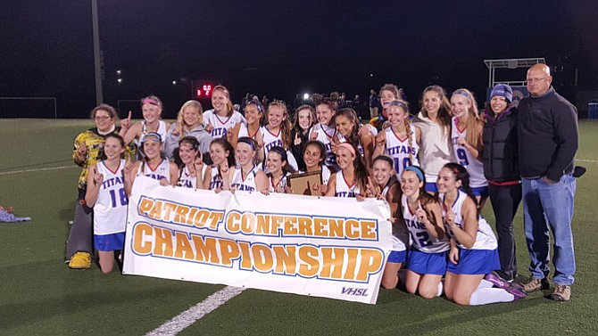 The T.C. Williams field hockey team won the Conference 7 championship with a 3-0 victory over Woodson on Oct. 26 at Minnie Howard.
