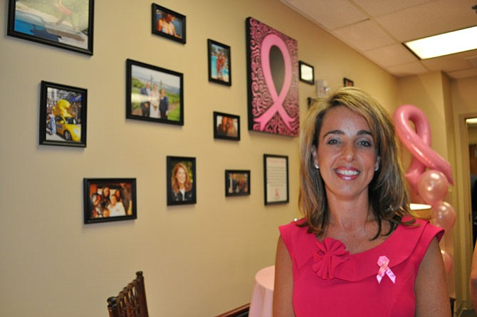 "Patient Cori Perry a breast cancer survivor and part of the ""Closing the Loop"" photo exhibit."