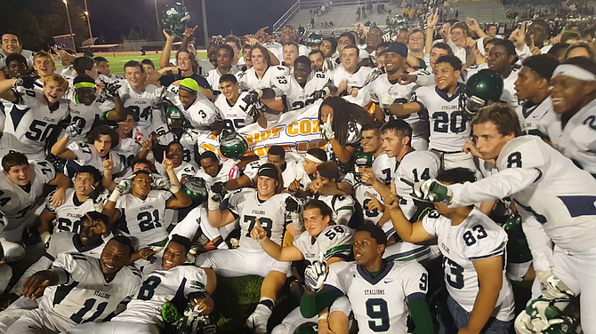 The South County football team won the Conference 7 championship with 33-30 overtime victory over Lake Braddock on Friday.