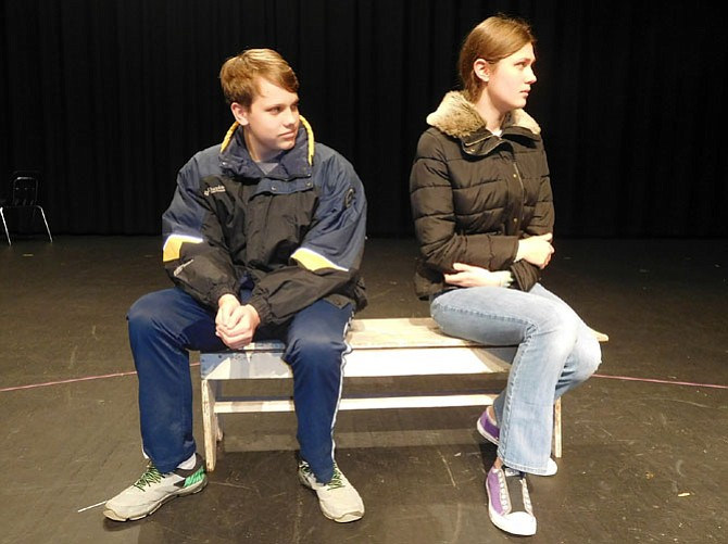 Jack Moore and Elizabeth Todd portray a married couple having problems.