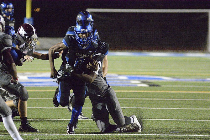 West Potomac running back Daiimon Cleveland carried 13 times for 96 yards and two touchdowns during a 40-6 win over Mount Vernon on Nov. 6.