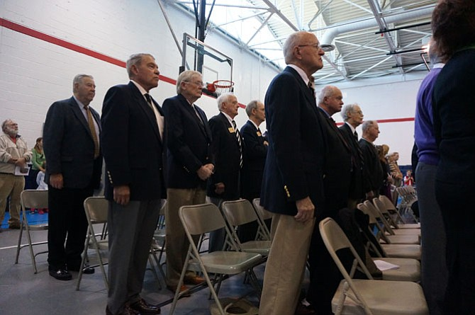 West Point class of 1959 friends of Rocky Versace attend the Alexandria Veterans Day ceremony at the Mount Vernon Recreation Center.