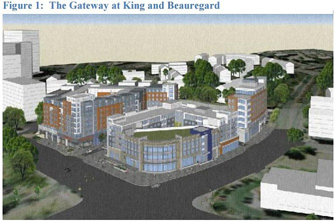 Concept design for Gateway at Beauregard and King Streets.