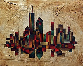 """Pictured here: """"Manhattan"""" by Vladimir Zabavsky.    The Columbia Pike Artist Studios is home to 27 local artists working in diverse media. On Saturday, Nov. 14 from 6-9 p.m. and Sunday, Nov. 15 2-5 p.m. at The Arlington Career Center, 816 S. Walter Reed Road, the Artist Studios will be open to the public. Admission to pARTy is free. Visit www.columbiapikeartiststudios.org for more."""