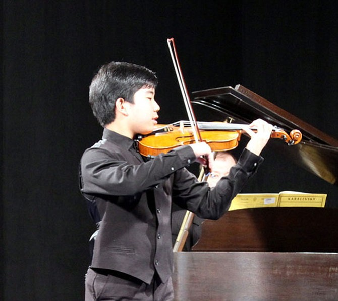 Masato Chang, 13, recently won the Music teachers National Association Competition for his age category on the violin. He is preparing Bach, Concerto No. 2 in E major, Allegro; Saint-Saens, Introduction and Rondo Capriccioso; and Tchaikovsky, Melodie for the MTNA January 2016 competition set to take place in Florida.