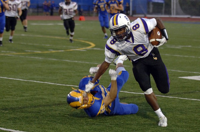 Lake Braddock running back Lamont Atkins recently committed to play football at Vanderbilt University.