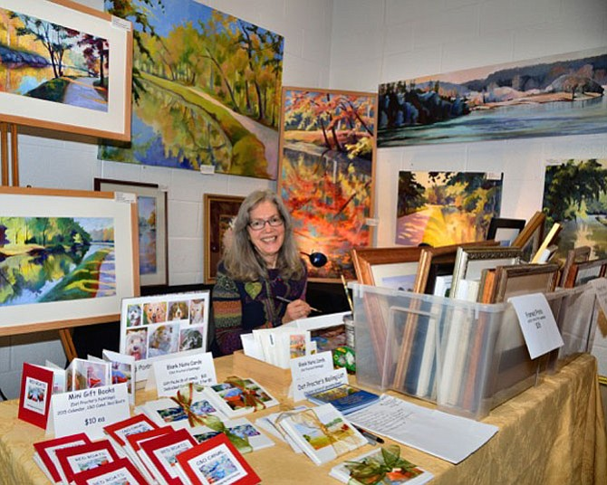 Dot Procter will be selling her colorful landscapes at the show. She has been in the show since it started in 2007.