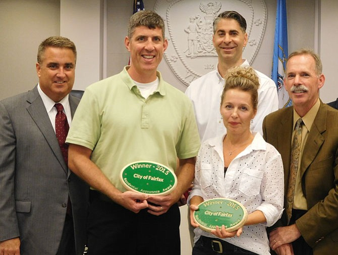 (From left) are Scott Silverthorne, Colin Harbison, Jeff Smith, Sonja Cummings and Kirk Holley.