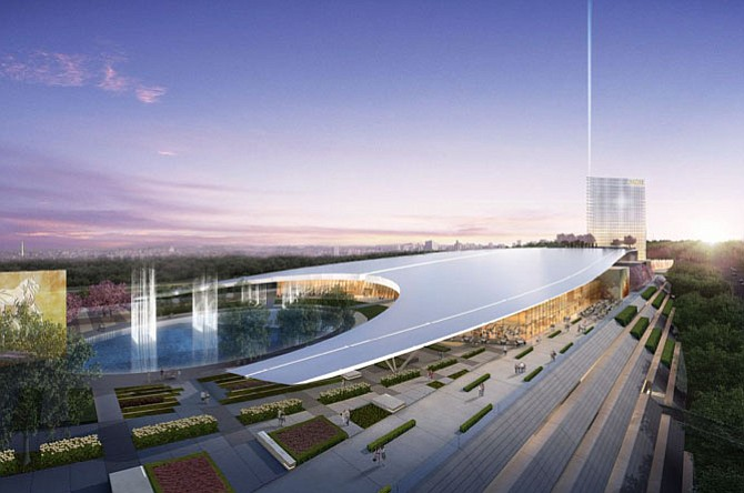 Concept rendering for the MGM Casino at National Harbor.