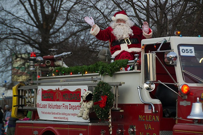 Santa was the last to make an appearance in McLean's seventh annual WinterFest parade on Sunday, Dec. 6. This year's parade will take place on Sunday Dec. 4th at 2:45 p.m. on on Old Chain Bridge Road, McLean.