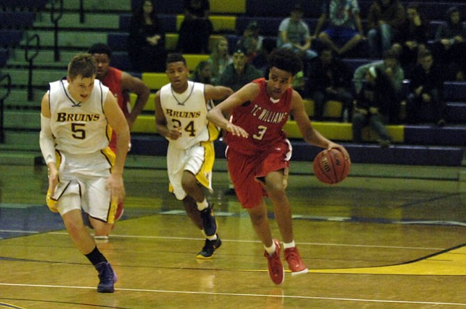 T.C. Williams junior guard Fahmmi Mamo scored a career-high 28 points against Lake Braddock on Tuesday.