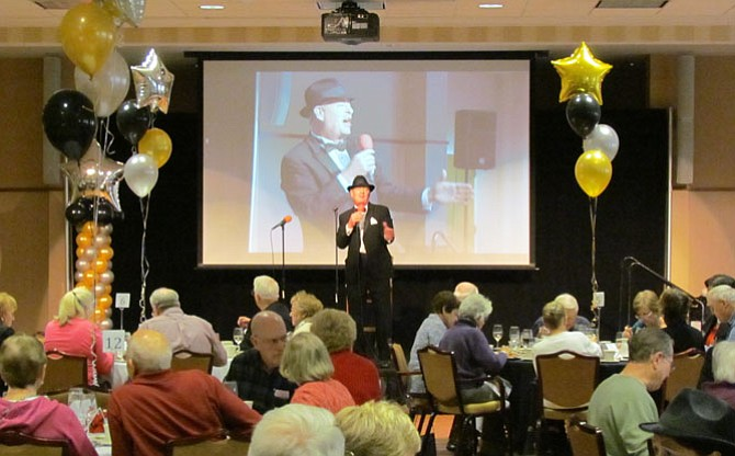 Billy Finch — a resident of Silver Spring, Md.— entertained as Frank Sinatra and revived Sinatra's greatest hits.