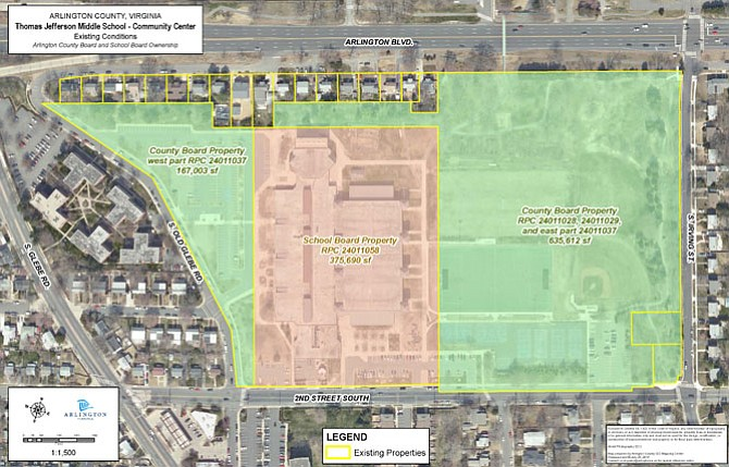 The new Thomas Jefferson Elementary School will be built on former county park land.