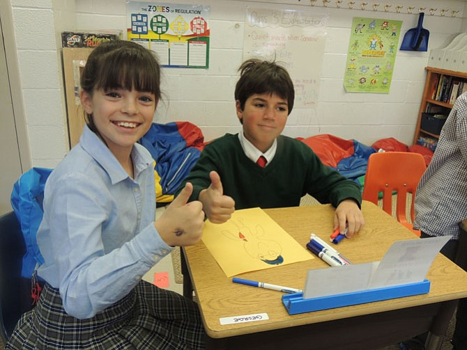 "Anna Segal and her buddy George give the project to help the homeless a ""Thumbs-up."""