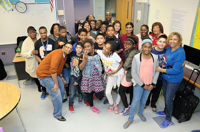 Hammond Middle School students and mentors in the RARE afterschool enrichment program.