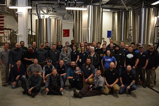 Fifty-five representatives from 20 different local breweries came together at Fair Winds Brewing Company in Lorton to brew a special ale in support of Forge Brew Works owner Kerri Rose's cancer treatment and recovery.
