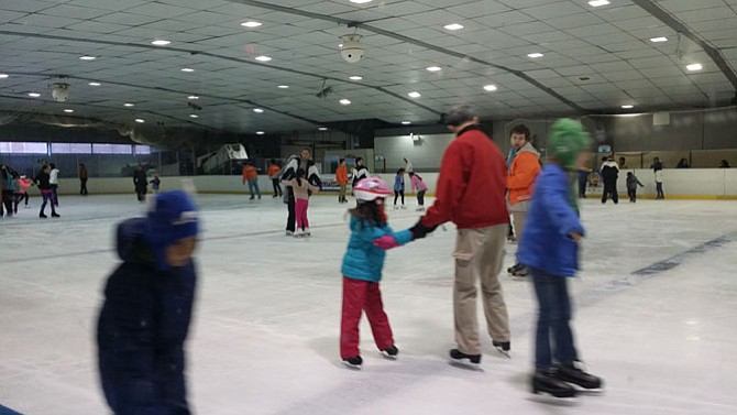 Despite a warm winter, Fairfax Ice Arena sees many skaters in its public skating hours on Saturday, Jan. 9.