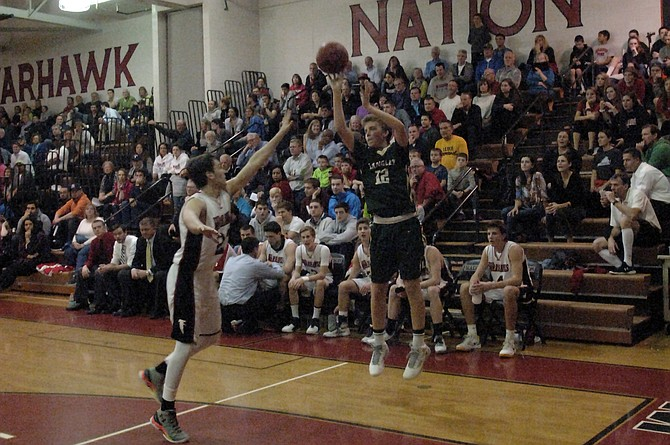 Langley's Jay Goettman made a trio of 3-pointers against Madison on Friday.