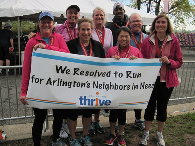 """Fear not. You are among friends. Just do it."" That's the advice of John Morrill, second from the left, a 2015 participant in Arlington Thrive's Resolve to Run program, now in its sixth year."