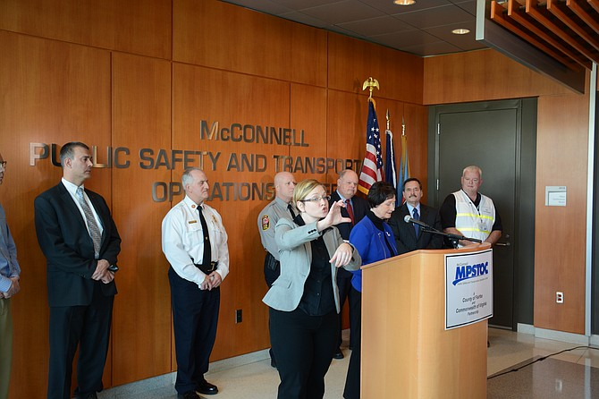 Fairfax County leaders gathered at the McConnell Public Safety and Transportation Operations Center in Fairfax on Jan. 21 to inform people about what to expect with the predicted blizzard over the coming weekend.