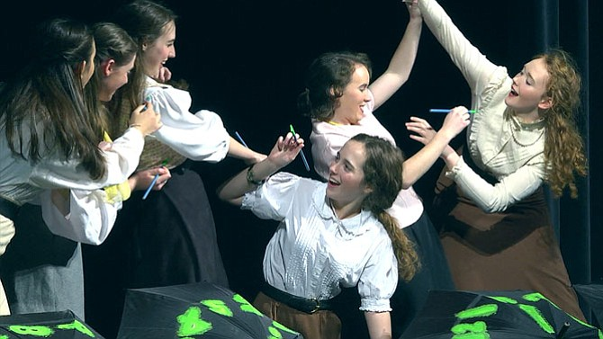"Yorktown High School actors will perform ""The Girls Who Glow"" on Thursday, Feb. 11."