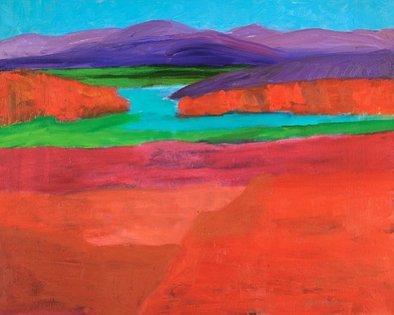 """""""The Power of Color"""" is on display at Gallery Underground, 2100 Crystal City Drive.  through Feb. 27. Pictured here: """"Red Rock Canyon"""" by Rebecca McNeely. Visit www.galleryunderground.org for more."""