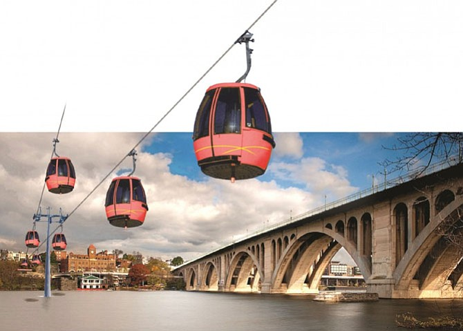 Georgetown BID's rendering for potential gondola project.