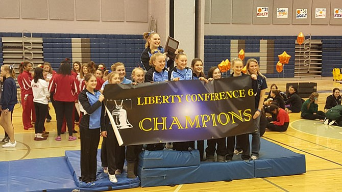 The Yorktown gymnastics team won the Conference 6 championship on Feb. 5 at Washington-Lee High School.