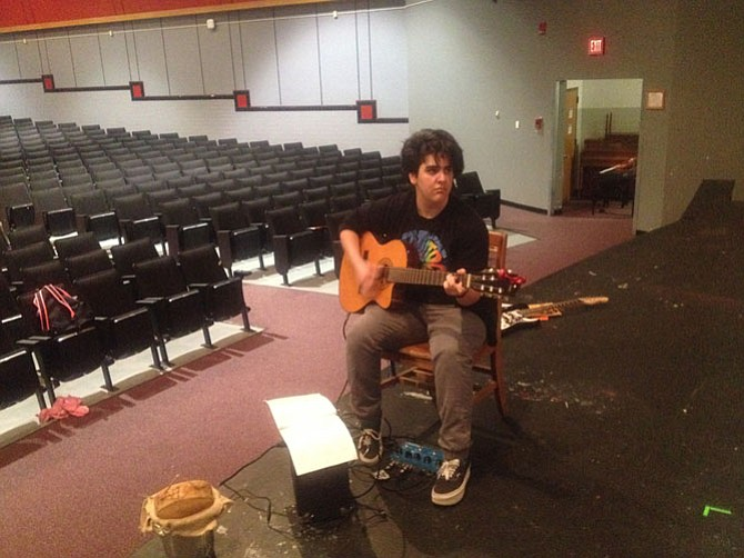 Allie Kassraie, a junior, will play original music on the acoustic and electric guitar for the drama production of 'Cinderella' Feb. 12  at 7 p.m. and Feb. 13 at 10 a.m.
