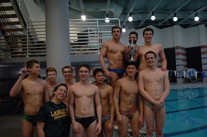 The Langley boys' swim and dive team won the 6A North region championship.