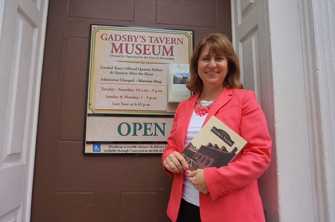 Gretchen Bulova is the author of a new book on the history of Gadsby's Tavern.