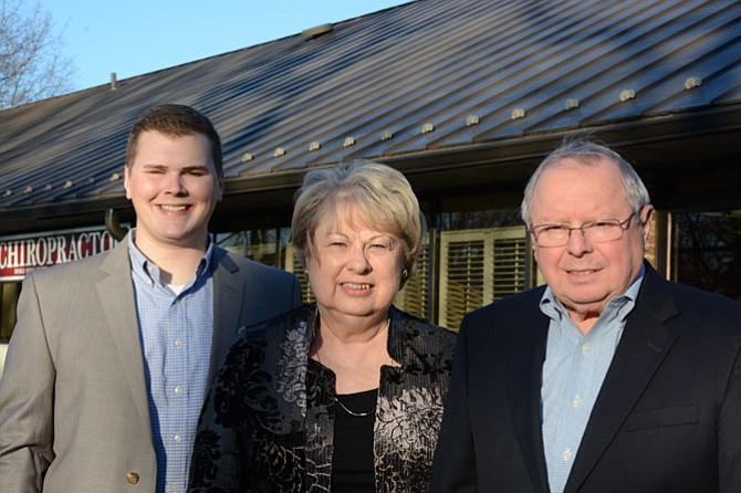 Pat (center) and Don Richter (right) run The Richter Group Residential Preferred Properties in Burke with help from their grandson Michael Richter (left).