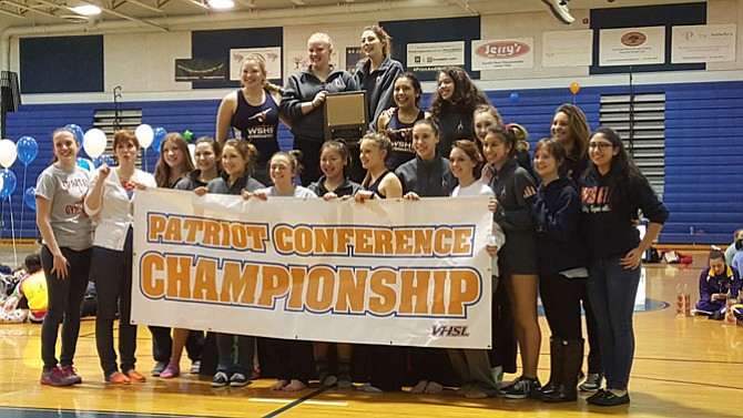 The West Springfield gymnastics team won the Conference 7 championship on Feb. 4 at West Potomac High School.