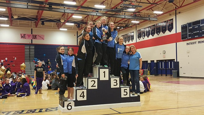 The Yorktown gymnastics team won the 6A North region championship on Feb. 13 at Patriot High School.