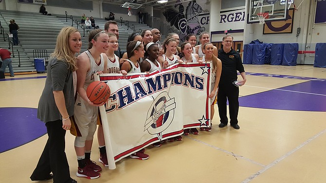 The Oakton girls' basketball team won its third consecutive Conference 5 championship on Friday.
