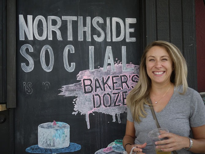 Katy Lang got to the Northside Coffee Shop by walking from Lee Highway.