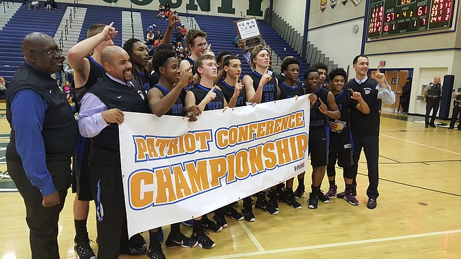 The West Potomac boys' basketball team won the Conference 7 championship on Feb. 21.
