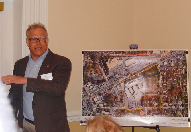 Bill Zink discusses the existing site and its topography.