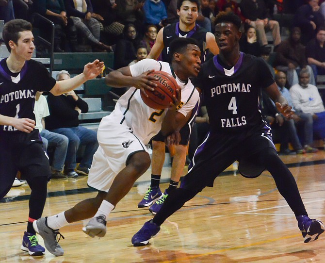 Wakefield junior Alan Treakle scored 13 points against Potomac Falls on Thursday.