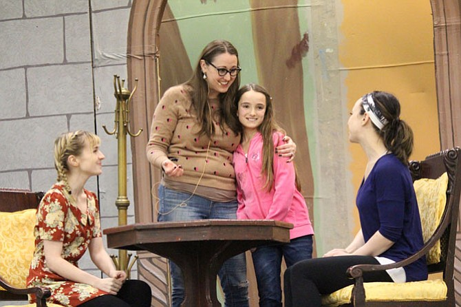 "Casey Kniseley stars as Beth; Heather Norcross as Jo; Sophia Manicone as Amy; and Emily Golden as Meg in ""Little Women."""