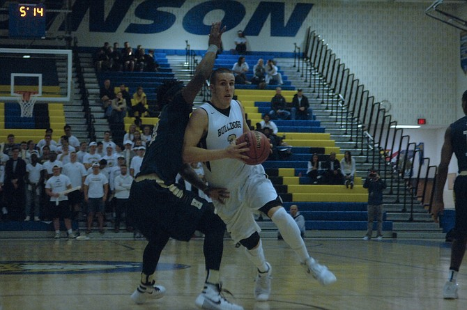 Westfield senior Tyler Scanlon scored 15 points against C.D. Hylton in the state quarterfinals on Friday.